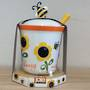 Decorated Honey Pot and Dibber