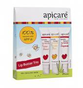 Apicare 3 natural lip balms SPF15